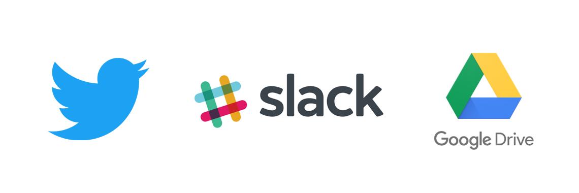 integrations - slack twitter google drive